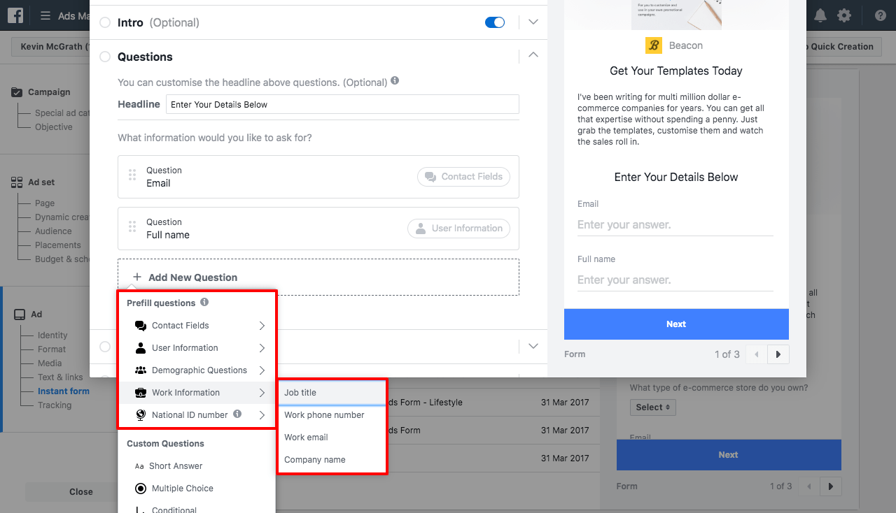 add more form fields as required